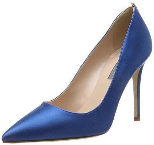 SJP by Sarah Jessica Parker Fawn, Zapatos de Tacón para Mujer, Azul (Imp 412 Satin), 38 EU