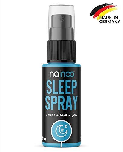 nalnoo Sleep Spray - MELA-Komplex Schlafunterstützung - 3-Monatsvorrat mit 1mg Tagesdosis - Vegan & Laborgeprüft - natürliches Schlafmittel für besseren Schlaf & bessere Stimmung - Made in Germany - Komplexe Spray