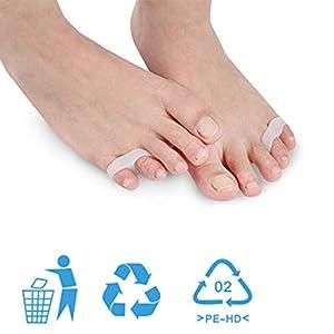 Silikon Kleiner Zehen-Sub-Toe Separator mit doppelten Löchern Umformung Ektropion Aligner Orthese Fußpflege Separator