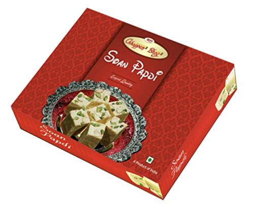 Emazing Gourmet- Chhappan Bhog Bikaner – Son Papdi – Export Quality – Gift Box with 2 Hand Made Rakhis