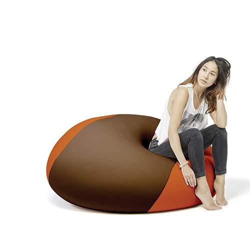 Terapy - OLLIE Relax Indoor Sitzsack - Sitzkissen, 100x100x80cm in braun / orange