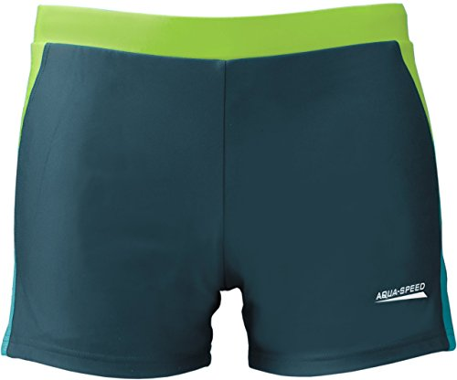AQUA-SPEED® Herren Badehose | Schwimmhose | S-XXXL | Modern | Perfect Fit | UV-Schutz | Chlor resistent | Kordelzug 01. blue / light blue / green