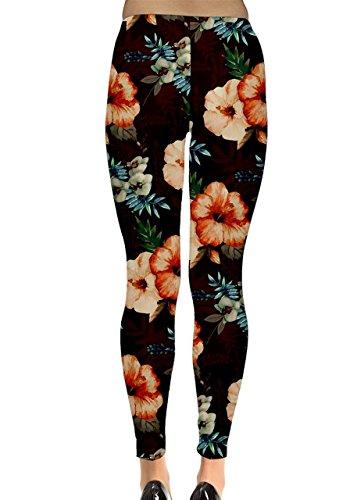 CowCow - Legging - Femme Black and Neon - Peach Poppy