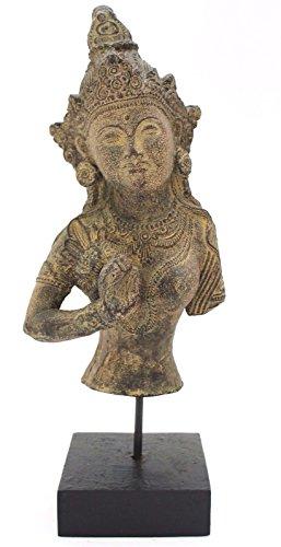 xl buddha thai buddha guardiano del tempio t?te 37?cm statua in pietra in pietra feng shui giardino