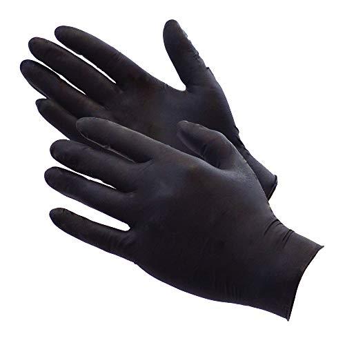 Galleria fotografica AURELIA BOLD Black Nitrile Powder Free Gloves large Box 0f 100 4.5mil Thickness