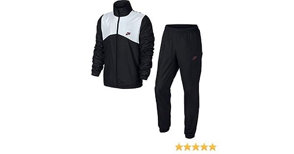 f7d4065d256de Nike M NSW TRK Suit WVN Halftime Survêtement pour Homme S Multicolore - Noir /Blanc/Rouge (Black/White/Team Red): Amazon.fr: Sports et Loisirs