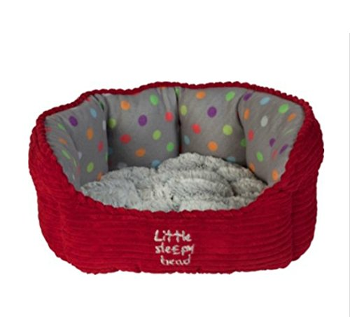 Petface Small Puppy and Kitten Oval Pet Bed - H26, W45, D40cm