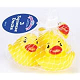 Baby King Bath Squeeze Toy - Set of Three (3) Play Ducks (3-Pack) by Baby King