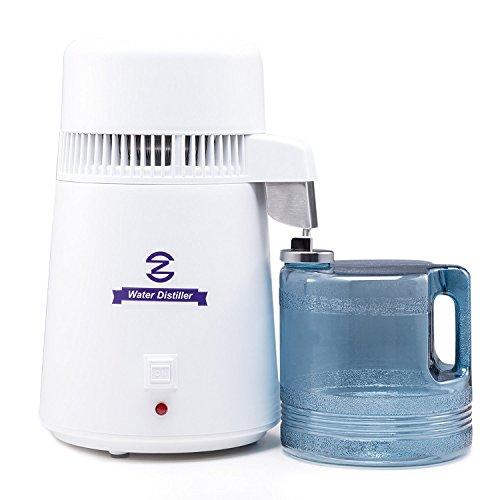 CO-Z Distillateur d'Eau 4Litres Maison Comptoir avec Bouteille Connectée et Orifice Inoxydable
