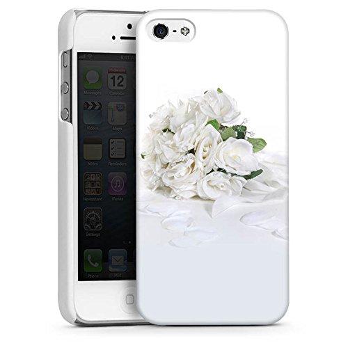 Apple iPhone 4 Housse Étui Silicone Coque Protection Bouquet de roses Bouquet de mariage Feuilles de roses CasDur blanc