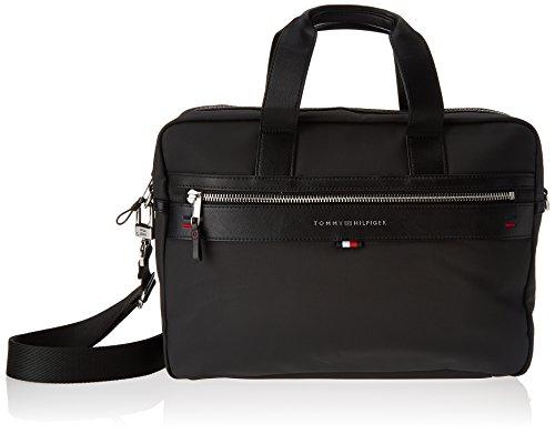 Tommy Hilfiger Herren Elevated Computer Bag Cc Laptop Tasche, Schwarz Navy/Core STP, 9.5x30x40 cm