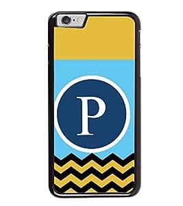 HiFi High Glossy Designer Phone Back Case Cover Apple iPhone 6 Plus :: Apple iPhone 6+ ( P Alphabet Colorful Pattern Design Mustache )