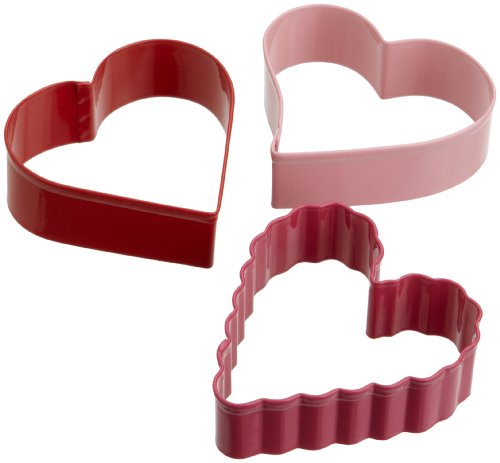 Wilton - Molde con forma de corazón (3 unidades)