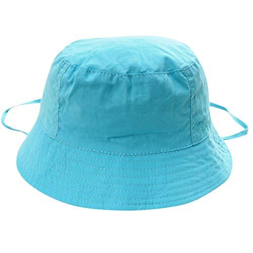 t, Sonnenhut,Fischerhut Mädchen Sommermütze Beanie Mütze Sommerhut Kinder Eimer Hut Atmungsaktiv Baumwolle Schlapphut (Blau,S ()