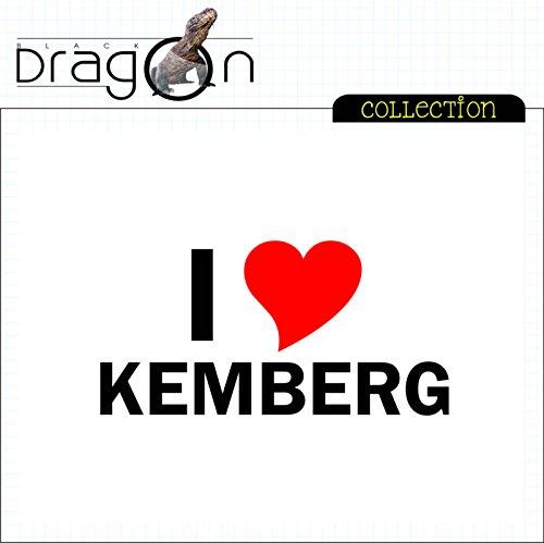 T-Shirt mit Städtenamen - i Love Kemberg - Herren - unisex Weiß