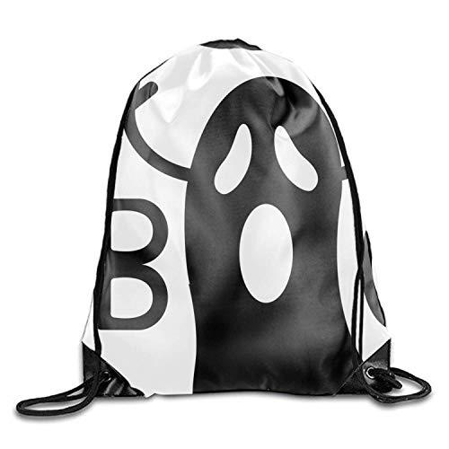 lzug Rucksack Taschen Schwarz Flying Ghost Halloween Werbeartikel Sport Gym Sack Einstellbare Cinch Tasche ()