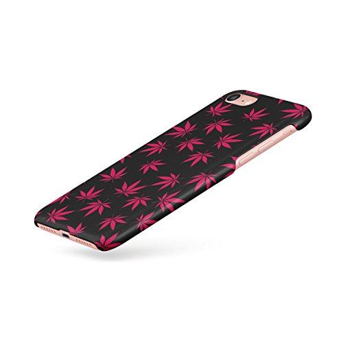 Weed Marijuana Leaf Black And White Pattern Dünne Rückschale aus Hartplastik für iPhone 5 & iPhone 5s & iPhone SE Handy Hülle Schutzhülle Slim Fit Case cover Red Leaf