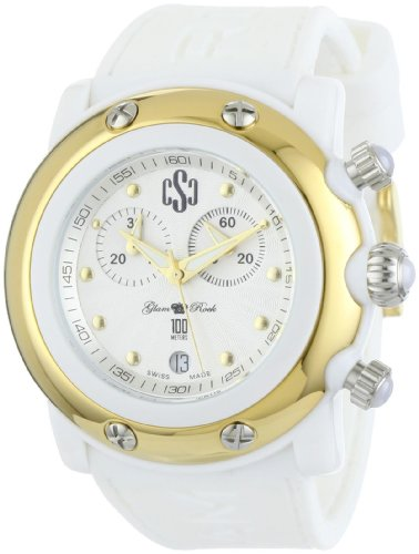 Glam Rock GR62108 - Reloj para mujeres color blanco