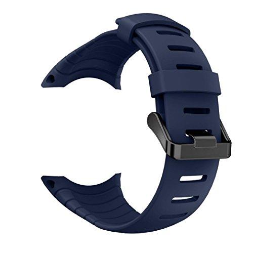 Kaiki für Suunto Core Armband,Neue Art- und Weisesport-Silikon-Armband-Bügel-Band für Suunto-Kern (Blue)