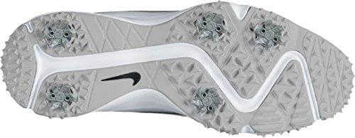 Nike Air Zoom Rival 5, Chaussures de Golf Homme, Blanc (White/Metallic Silver), 47.5 EU