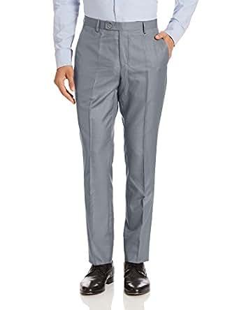 Indigo Nation Men's Formal Trousers (8907372671765_1IT8088130_30W x 34L_Grey)