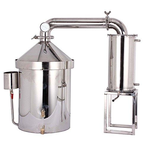 160L destilador de agua casero acero destiladores de aceites esenciales alambique de columna YUEWO