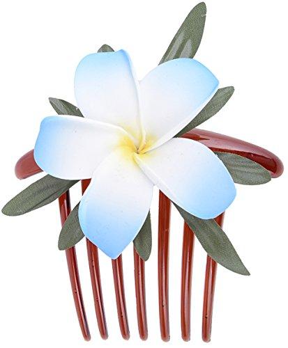 Unbekannt Killer Kirsche Haarkamm Lulani Blüten (Hellblau/Weiß)