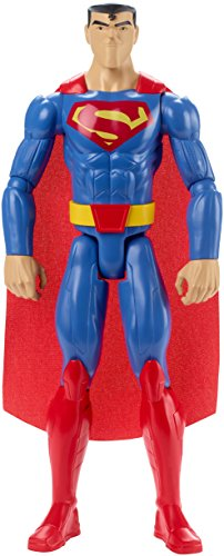 Mattel FBR03 DC Justice League Basis-Figur Superman, Aktionsspielzeug, 30 cm (Aktion Kostüm)