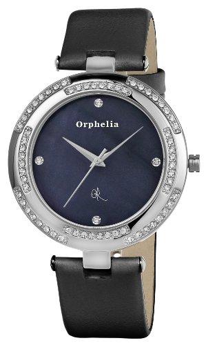 Orphelia - OR22170344 - Montre Femme - Quartz Analogique - Cadran Nacre - Bracelet Cuir Noir