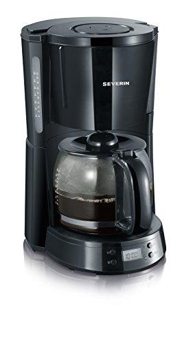 Severin KA 4191 Kaffeeautomat mit Timer Select, - Timer Mit Kaffeemaschine Schwarz