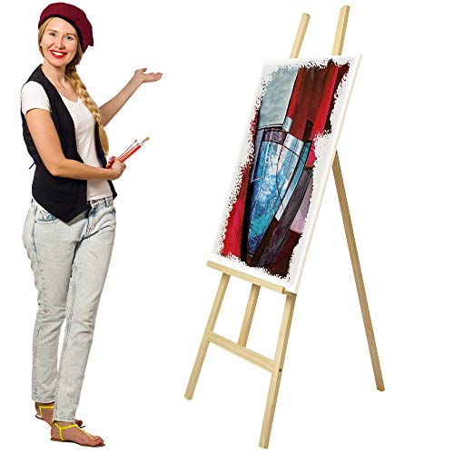 Artina Sevilla - Caballete de Pintura de Estudio, Academia y Profesional - Madera Maciza Pino - Lienzos hasta 120 cm