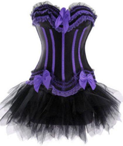 r-dessous Corsage Kleid Mini Rock Korsett Gothic Bustier Corsagenkleid Tutu Tütü Dessous Groesse: XXL