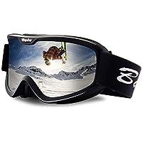 BangLong Skibrille, Snowboard Brille für Brillenträger Herren Damen Schneebrille OTG UV-Schutz Anti Fog Skibrillen für Wintersportarten, Skifahren, Skaten
