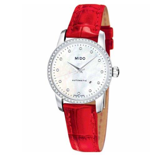 Mido M7602.4.69.7 - Reloj Analógico Para Mujer, color Blanco/Marrón