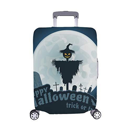 (Nur abdecken) Happy Halloween Trick Treat Blauer Spandex- Staubschutz Trolley Protector case Reisegepäck-Schutzkoffer-Abdeckung 28,5 X 20,5 ()