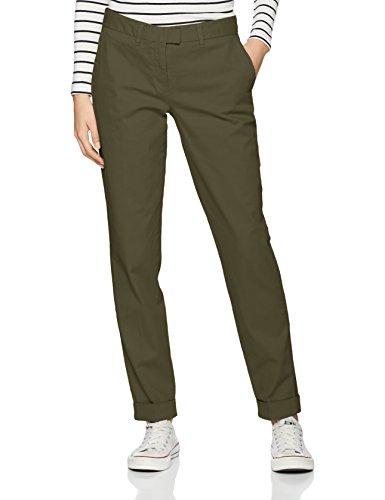 Tommy Hilfiger Marin Skinny Chino Pantalones Mujer Verde Thyme 289 36 Talla del Fabricante 34
