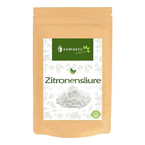 Foodtastic Zitronensäure 1000g / 1kg | Premium Citronensäure E330 Citric Acid in Lebensmittelqualität | kristallines Pulver im wiederverschließbaren Beutel