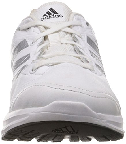 adidas Performance Duramo 6 Lea M, Chaussures de running homme Blanc (Running White Ftw/Metallic Silver/Black 1)