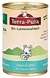 Terra Pura Bio Hundefutter Lammmahlzeit Welpen 400 g Glutenfrei, 12er Pack (12 x 400 g)