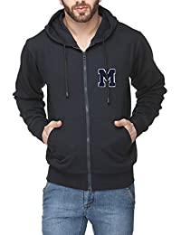 Scott International Navy Blue Cotton Comfort Styled Hooded Men's Sweatshirt