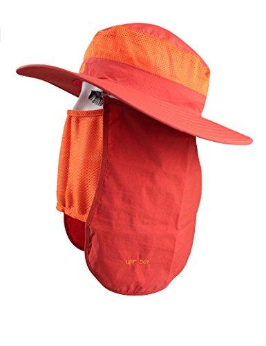 Chapeau de soleil d'été Femme Été Extérieur chapeau chapeau de soleil Anti-UV Crème solaire chapeau de soleil Pliable Cyclisme Chapeau de pêcheur Pour les voyages de plage sortants ( Couleur : 1 ) 7