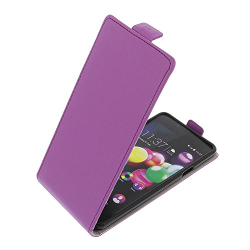 foto-kontor Tasche für Wiko Highway Pure Smartphone Flipstyle Schutz Hülle lila
