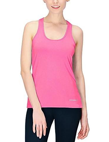 Baleaf Women's Active Racerback Tank Top Running Shirt Heather Pink Size L