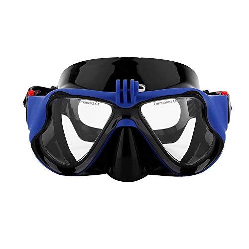 OOFAYWFD Unterwasserkamera Einfache Tauchermaske Scuba Schnorchel-Schwimmbrille Für Gopro,Blue
