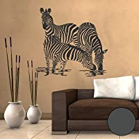 ZEBRA Herde Afrika Pferde 1B Wohnzimmer WANDTATTOO 80cm