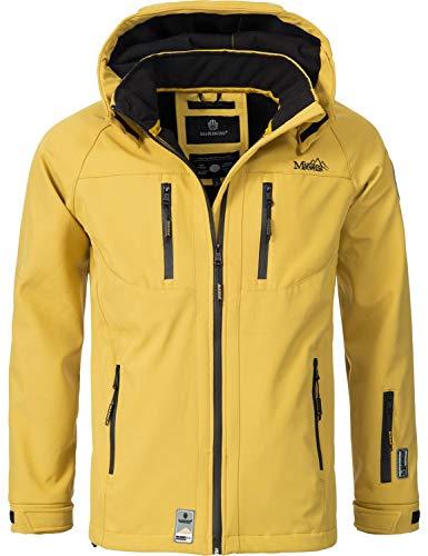 Marikoo Herren Softshell-Jacke Outdoorjacke NOAA Gelb Gr. M