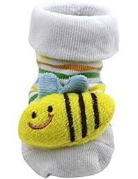 HuntGold chaussure bébé mignon unisexe en coton design de animation 3D(abeille)