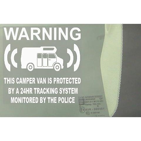 6 x Camper Van ciuccio/finto Dilatatore tracciamento tramite GPS sistema unità del dispositivo - furgoncino allarme di sicurezza di finestra per eliminare le mosche - Police monitorato per In vinile cartello
