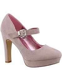 Elara – Zapatos de Tacón Alto con Correa en el Empeine, Cómodos | Chunkyrayan