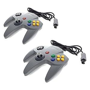 2x Smartfox Controller Gamepad Joypad Joystick für Nintendo 64 N64 in grau